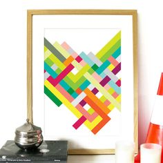 Poster Spring Collection Art Print color stripes pattern in Spring colors vibrant bright Poster Geometric pattern art interlaced color lines on Etsy, $24.48 AUD