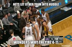 NETS LET OTHER TEAM INTO HUDDLE WONDERS WHY THEY'RE 4-11 | Easy Memes