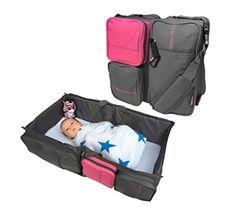 Change Station Strict 3 In 1 Diaper Bag Travel Bassinet Quicksmart black+gray