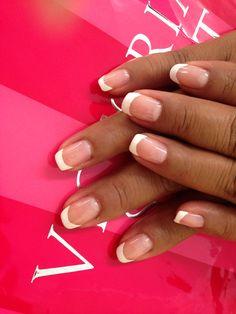 French manicure. Shellac. Gel polish