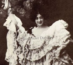 Ziegfeld Follies Cancan Girl: Saharet, 1897, NYC