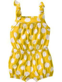 Bow-Tie Jersey Rompers for Baby | Old Navy