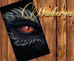 Dragon eye pattern PDF cross stich. download  Fantasy by Monterya