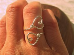 Sterling Silver Double Heart Ring   Wear It Jewelry