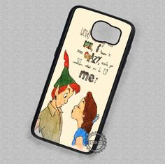 Run Away with Him Peter Pan Wendy Quotes - Samsung Galaxy S7 S6 S5 Note 7 Cases & Covers