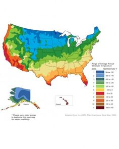 Gardening Map Of Warming US Has Plant Zones Moving North - Us gardening zone map