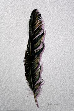 Ravens feather.  I am from the Raven Clan and out of the Coho house
