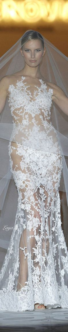 I would need something under, but this is amazing to me  PRONOVIAS Spring-Summer 2015 BRIDAL