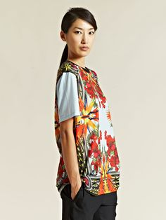 Givenchy Women's Oversized Printed Tee