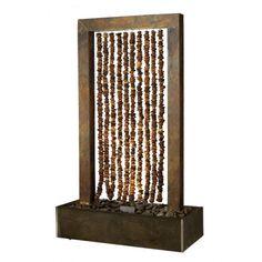 Marvelous Collier Wasserwand aus Schiefer mit Kieselsteinablauf