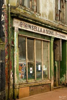 Derelict shop, Whitehaven, UK