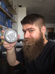 adventuresofmoosehead: I now own this epic Mega Tin of Spiffy Stuff Beard Balm. Makes my beard smell like Christmas and it feels awesome. Shaving & Grooming, Beard Grooming, Beard No Mustache, Moustache, Hairy Men, Bearded Men, Beard Lover, Epic Beard, Beard Balm