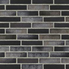 Ströjer B708 Silver Black, svart fasadtegel