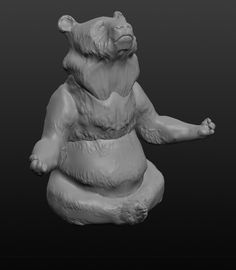 bear made with Sculptris