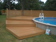 Popular Above Ground Pool Deck Ideas. This is just for you who has a Above Ground Pool in the house. Having a Above Ground Pool in a house is a great idea. Tag: a budget small yards above ground pool landscaping Oberirdischer Pool, Above Ground Swimming Pools, Swimming Pools Backyard, In Ground Pools, Lap Pools, Pool Fun, Intex Pool, Indoor Pools, Pool Water