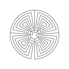 How to Draw a Man-in-the-Maze Labyrinth / 15 Labyrinth Garden, Labyrinth Maze, Maze Tattoo, Man In The Maze, Printable Mazes, Symbol Drawing, Maze Design, Sacred Geometry Symbols, Lost Paradise