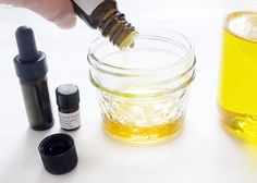 DIY: solid perfume: 4oz carrier oil, 2oz beeswax, 120-150 drops of essential oil.