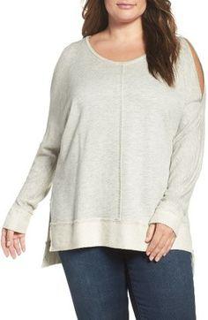 Shop Now - >  https://api.shopstyle.com/action/apiVisitRetailer?id=625948617&pid=uid6996-25233114-59 Plus Size Women's Caslon Cold Shoulder Sweatshirt  ...