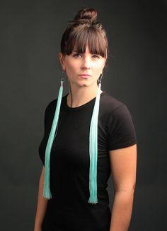 Items Similar To The Mermaid Extra Long Tel Fringe Earrings On Etsy
