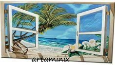 Windows #heaven #arte #sea #landscape #Palmas #flowers #mare #estate #sucommissione #love #Holiday