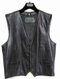 Apparel & Merchandise Clothing, Shoes & Accessories Son Of Anarchy Black Real Leather Handmade Motorcycle Biker Waistcoat Club Vest Modern Techniques