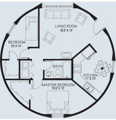 Monarch Dome Homes - Floor Plans Round House Plans, Small House Plans, House Floor Plans, Cob House Plans, The Plan, How To Plan, Yurt Home, Yurt Living, Silo House