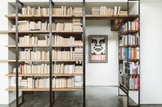 The built-in bookshelves bridge the old and new parts of the home and were built by the home owner, Justin Northrop.