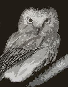 Owl in Tree by Jerry Winick, $125.00