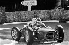 Ferrari 156 at Monaco~ Ferrari Racing, F1 Racing, Race In America, Ferrari Scuderia, Speed Racer, Old Race Cars, Vintage Race Car, Indy Cars, Car And Driver