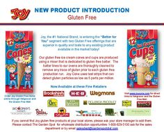 Joy cone Gluten Free Ice Cream Cones gluten-free  glutenfree Gluten Free Ice Cream Cones, New Product, Glutenfree, Goodies, Sweet Like Candy, Gluten Free, Sin Gluten, Sweets