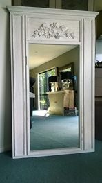 This mirror is an excellent example of shabby chic design, its frame is produced by several successive layers of paint applied, scraped, sanded and aged 1400 x 760 trade me 450