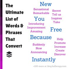 189 Words That Get Your Customer's Attention Every Time: The 5 most persuasive words in the English language: You; New—List of 184 more words. Inbound Marketing, Content Marketing, Internet Marketing, Marketing Branding, Marketing Ideas, Marketing Tools, Business Emails, Business Tips, Business Writing