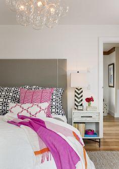 bedroom + #preppy + bubble chandelier #COCOCOZY textiles