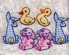 Vintage Gingham Animals Appliques Sewing by allsfairyvintage, $5.00