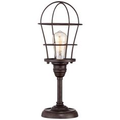 Franklin Iron Works Industrial Wire Cage Accent Lamp - #4Y309 | LampsPlus.com