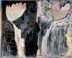 Grotta och vattenfall by Leena Luostarinen 1988 Modern Art, Contemporary Art, Cat Garden, Garden Painting, Flower Art, Art Flowers, Art And Architecture, All Art, Mixed Media Art