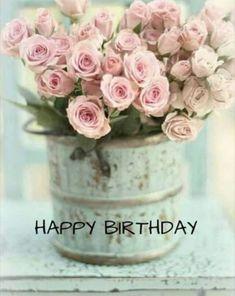 Handmade rustic shabby chic decor for your by ShabbyChicHomeShop Happy Birthday Flower, Happy Birthday Images, Happy Birthday Wishes, Birthday Greeting Cards, Birthday Greetings, Birthday Congratulations, Boo Halloween, Rosa Rose, Happy B Day