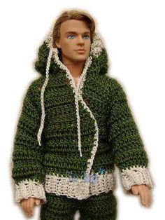 Conjunto Deportivo Para Muñecos Ken Tejidos Al Crochet a ARS 45. Ropa y…