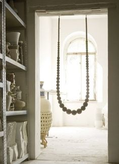 This Striking Accessory And Playful Design For The Home, Is Handmade By  German Designer Johanna Richter. The Swing Necklace Is Available. Indoor  Swing ...