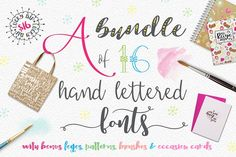 Handlettered Font Bundle by Joanne Marie on @creativemarket