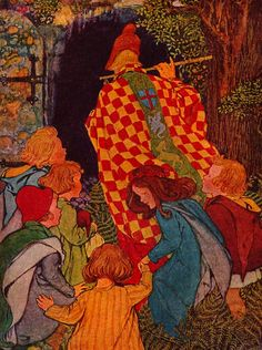 The Pied Piper of Hamelin by Robert Browning, illustrated by Hope Dunlap.