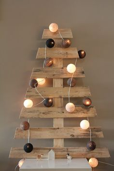 arbol de navidad con palets Christmas trees made with pallets
