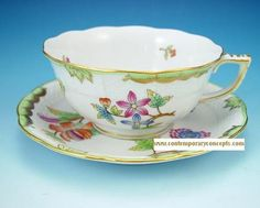 Herend Queen Victoria China Tea Cup & Saucer