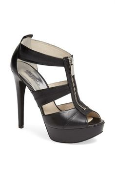 Black Zipper Heel