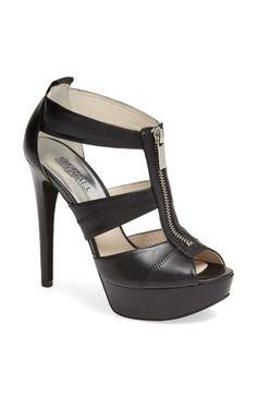 Black Zipper Heel