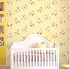 Bunny Up Buff Removable Wallpaper Half Kit - WallCandy Arts Nursery Wallpaper, Kids Wallpaper, Vinyl Wallpaper, Peel And Stick Wallpaper, Buff Bunny, Wall Candy, Contemporary Wallpaper, Blue Wallpapers, Nursery Design