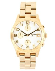 Enlarge Marc By Marc Jacobs Gold Chronograph Bracelet Watch
