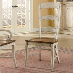 Have to have it. Hooker Furniture Summerglen Antique White Ladderback Side Chair - 2 Chairs $640.00