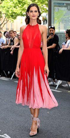 Isabel Goulart in Valentino attends the Valentino Men's fashion show in Paris. #bestdressed