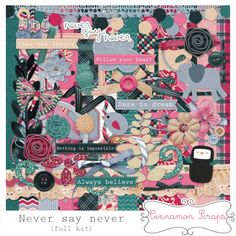 Never Say Never full kit freebie from Cinnamon Scraps  #digiscrap #scrapbooking #digifree #scrap #freebie #scrapbook